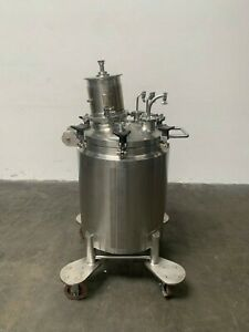 Lee 100 Liter Stainless Steel Jacketed Reactor W Agitator 100psi