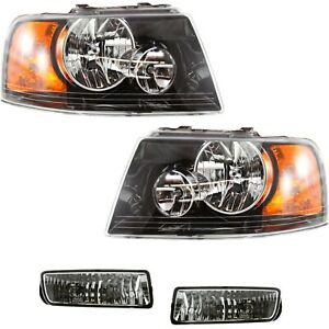 Auto Light Kit For 2003 Ford Expedition Driver And Passenger Side Black Interior