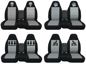 Fit Ford Ranger truck Car Seat Covers 60 40 console Not Included Blk silver