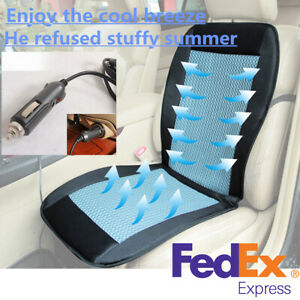 12v Cooling Car Seat Cushion Cover Air Ventilated Fan Conditioned Cooler Pad Us