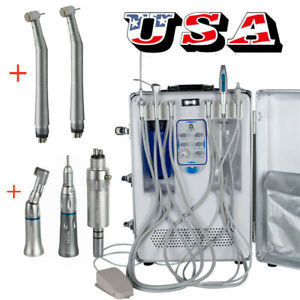 Dental Portable All In One Delivery Unit syringe curing Scaler Handpiece Kit