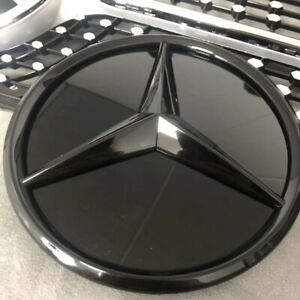 Gloss Black Front Grille Emblem Badge Logo For New Mercedes Benz C class 2019