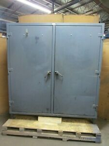 Strong Hold 78 X 72 X 24 2 Door 4 Shelves Tool Storage Cabinet