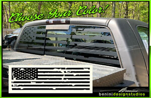 American Flag Pick up Truck Back Window Decal Universal For Jeep Tundra Tacoma