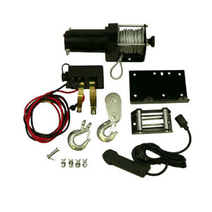 New Universal 2500lb Winch Set With Removable Toggle Control