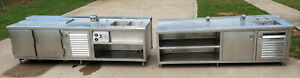 Stainless Steel Prep Work Table Sink 3 Tables Food Commercial Kitchen Nsf