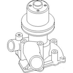 163365as Water Pump W Pulley For White Oliver Tractor 1650 1655 2 70 2 78 4 78