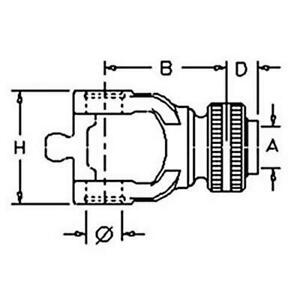 84053851 Bp573063879 Square Baler Yoke For Ford 590 590c 20 Spline