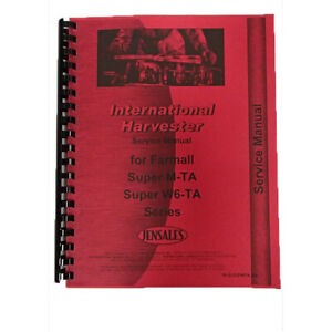 Ih Tractor Service Manual For Farmall Super M M ta W6 ta Ih s supmta W6