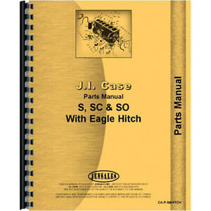 Parts Manual For Case Sc4 Tractor built Only In 1954