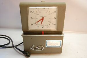 Vintage Lathem Time Clock Antique Industrial Steampunk For Display Parts Repair
