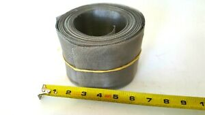 Roll Stainless Steel Mesh Woven Wire Apx 4 X 55 Feet Recycle Upcycle