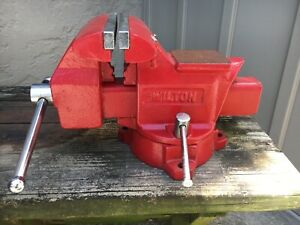 Large Wilton 5 1 2 Spinning Swivel Base Vise Anvil Bench Pipe Clamp Shop Vice