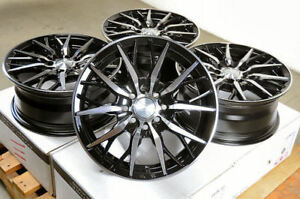 14 Wheels Honda Civic Accord Corolla Fit Accent Elantra Sonata Black Rim 4 Lugs