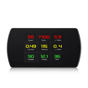 Universal Smart P12 Car Hud Head Up Display Obd2 Obdii Overspeed Warning Ma1622