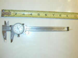 Caliper Starrett 120 Dial Mill Lathe Machinist Tool
