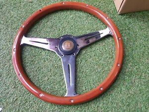 Rare Vintage Wood Classic Wood Steering Wheel Luisi Volkswagen Vw Horn Button