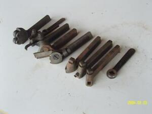 Lot Of 7 Small Usa Tool Holders L S R R Cut Off Boring South Bend Atlas