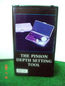 Pinion Depth Setting Tool Instructional Video