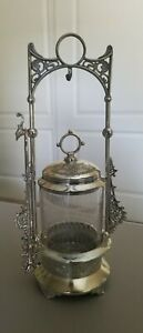 Victorian Antique Pickle Castor E G Webster Silver Plate Co