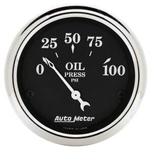 Autometer 1727 Oil Pressure Gauge With Electric Air Core 2 0625