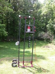 Drilling Rig electric Complete Drilling System W 19 Of Rods And Auger Head