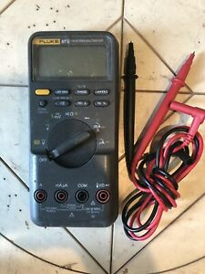 Fluke 87v 87 V Digital Multimeter With Leads Free Shipping