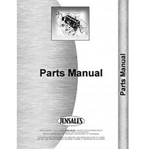 Parts Manual For Dearborn Lister Corn Planter models 12 2 Thru 12 28