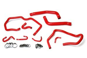 Hps Reinforced Red Silicone Radiator Heater Hose Kit Coolant For Toyota 10 14