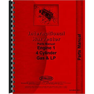 New International Harvester 2444 Tractor Engine Parts Manual