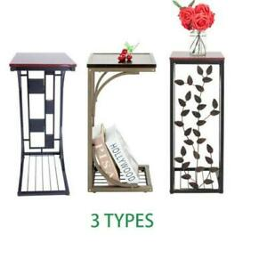 Modern Style Side Small Sofa End Table Narrow Snack Table Stand 4 Types New Us