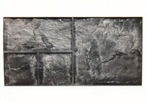 Concrete Texture Rubber Stamps Decorative Imprint Texture Stone Mats Shale 1