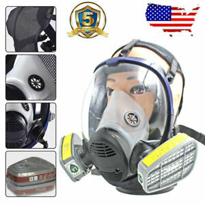Us Anti dust Full Face Facepiece Respirator Painting Spraying Gas Mask F 3m 6800