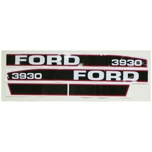 New Ford Hood Decal Kit Red black Force Ii 3930