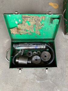 Greenlee 7306 1 2 2 Hydraulic Knockout Punch Driver Kit