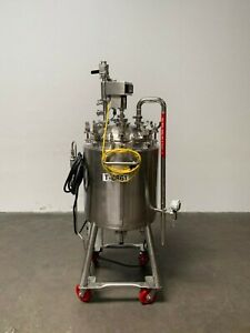 Howard 100 Liter Stainless Steel Jacketed Reactor W Bottom Magnetic Mixer 40psi
