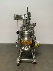 Precision 40 Liter Stainless Steel Jacketed Reactor W Mixer 45 Psi