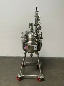 Precision 30 Liter Stainless Steel Jacketed Reactor 60 Psi W Level Monitor