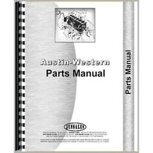 Parts Manual For Austin Western Super 301 Grader Industrial construction