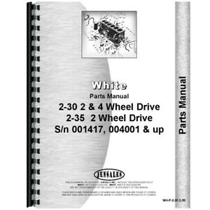 White 2 30 Tractor Parts Manual 2 4 Wheel Drive