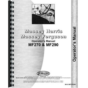 Massey Ferguson Mf 290 Tractor Operators Manual