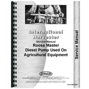 New International Harvester 606 Injection Pump Service Manual