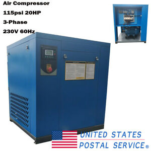 Hpdmc 230v 60hz Industry Rotary Screw Air Compressor 20hp 81cfm 3 phase 115psi