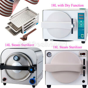 14l 18l Dental Autoclave Steam Sterilizer Medical Sterilization Dry Function
