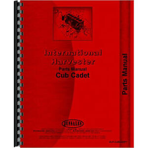 New Tractor Parts Manual For International Harvester Cub Cadet Lawn