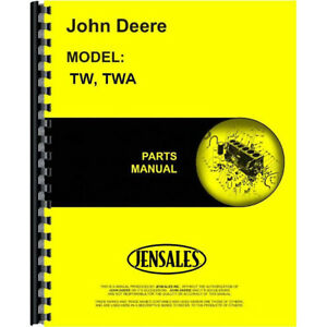 Jd p pc937 Parts Manual For John Deere Tw Disc Harrow