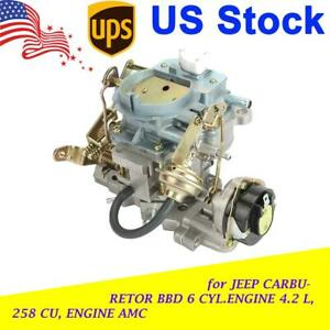 2 Barrel For Jeep Carburetor Bbd 6 Cyl 4 2l 258cu Engine Amc Carb Carter