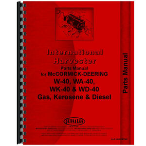 New Mccormick Deering Wd40 Tractor Parts Manual