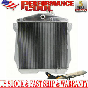 4 Rows Aluminum Radiator For 1943 1948 Chevy Stylemaster Fleetline 3 5l 3 8l L6