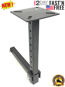 Heavy Duty Adjustable Trailer Hitch Mount Vise Plate Holder Fits 2 Receivers